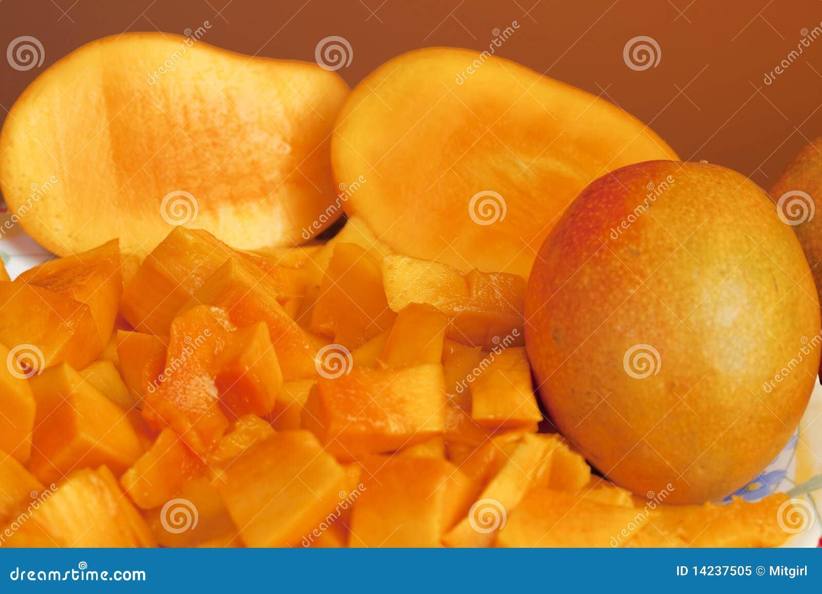 Delicious Chopped Mango Fruit