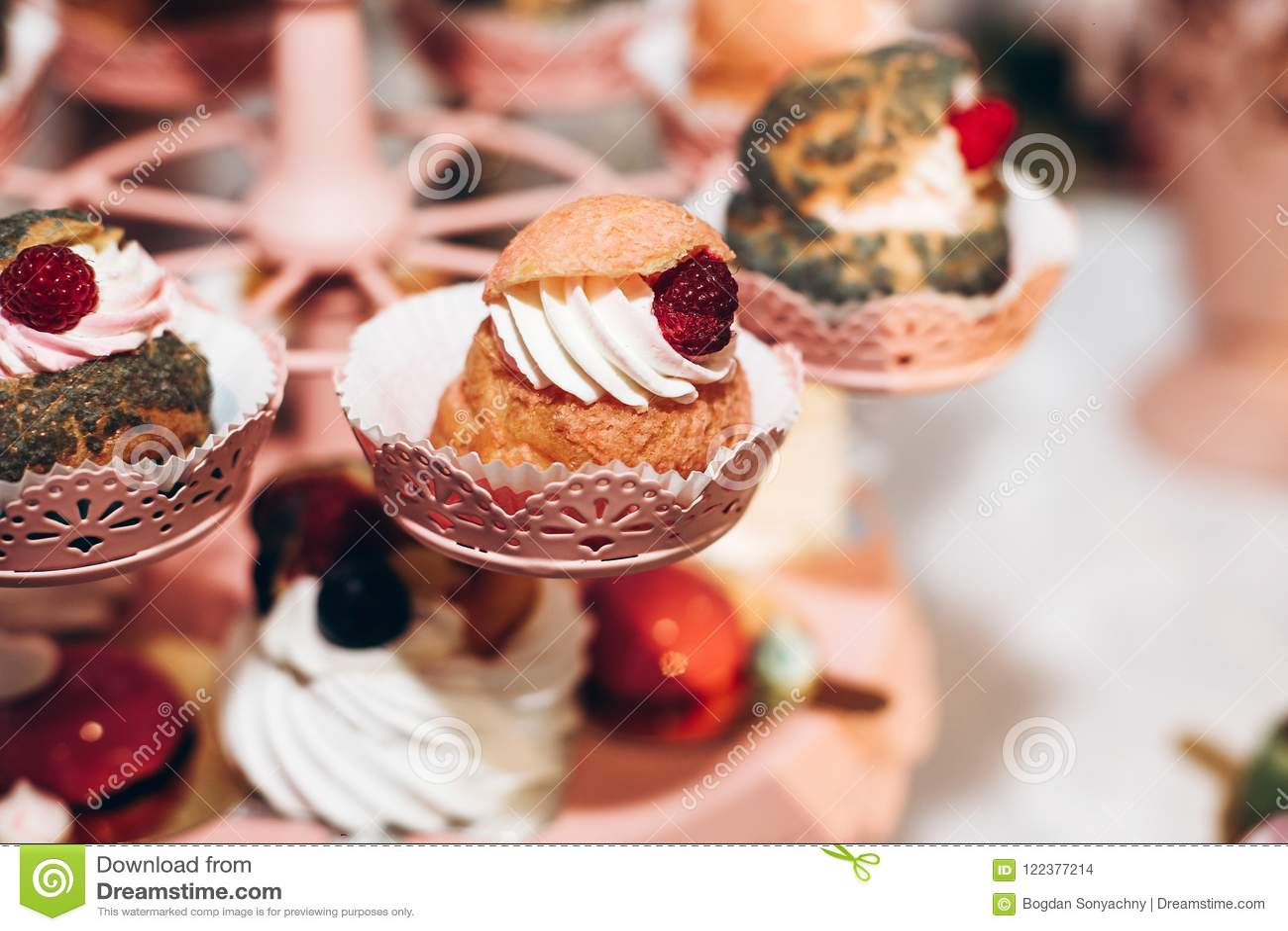 Delicious Cupcake Candy Bar At Luxury Wedding Reception Exclus