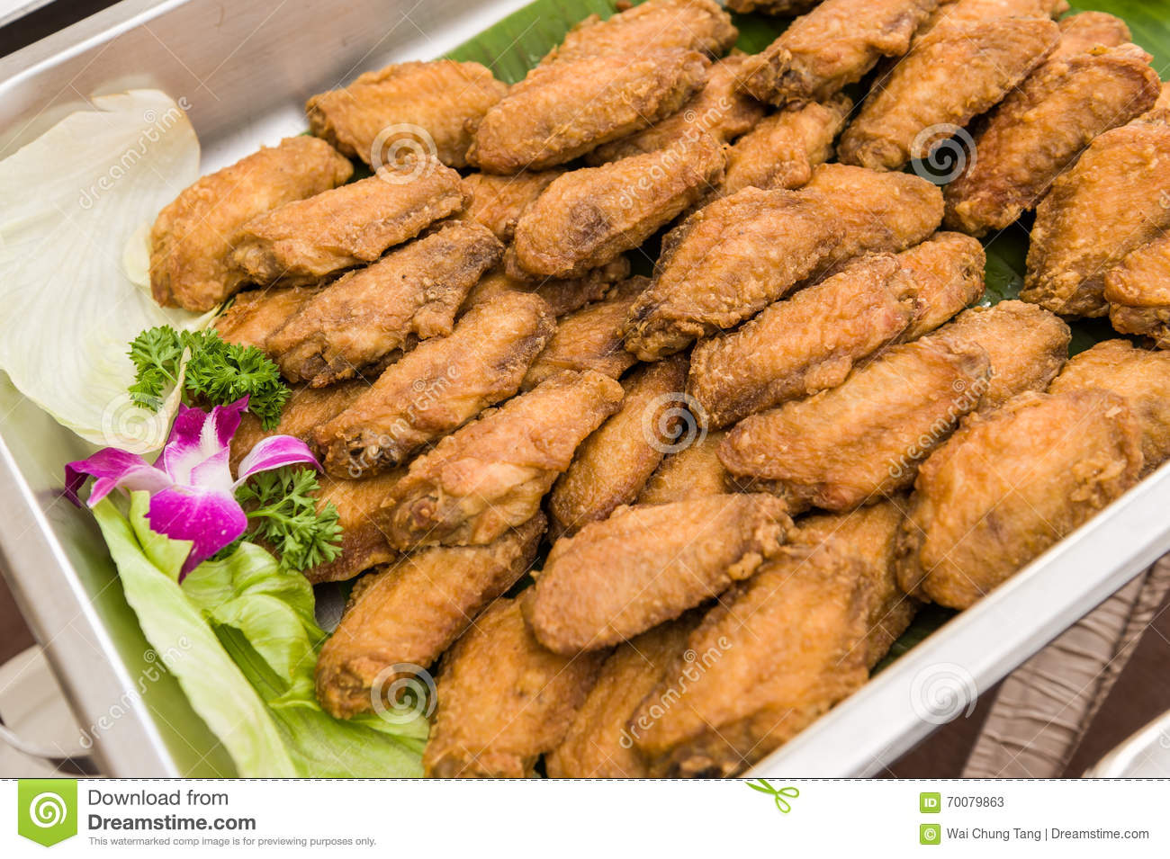 delicious deep fried chicken wings stock image image of healthy rh dreamstime com chicken wing buffet hong kong chicken wing buffet london