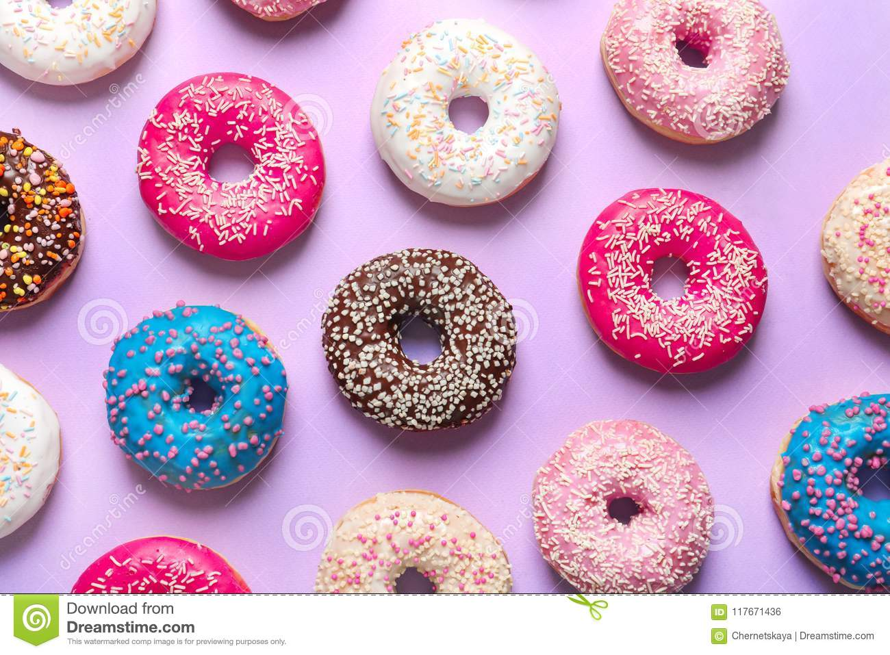 Delicious Doughnuts With Sprinkles Stock Photo - Image of