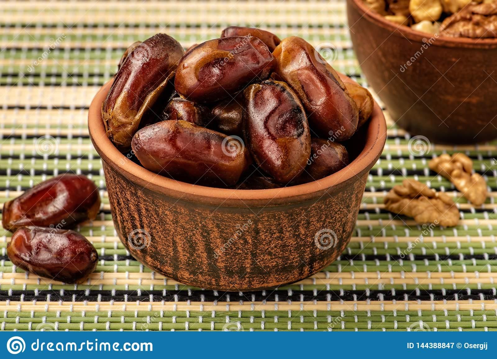 Delicious dried dates, a favorite dish of many gourmets