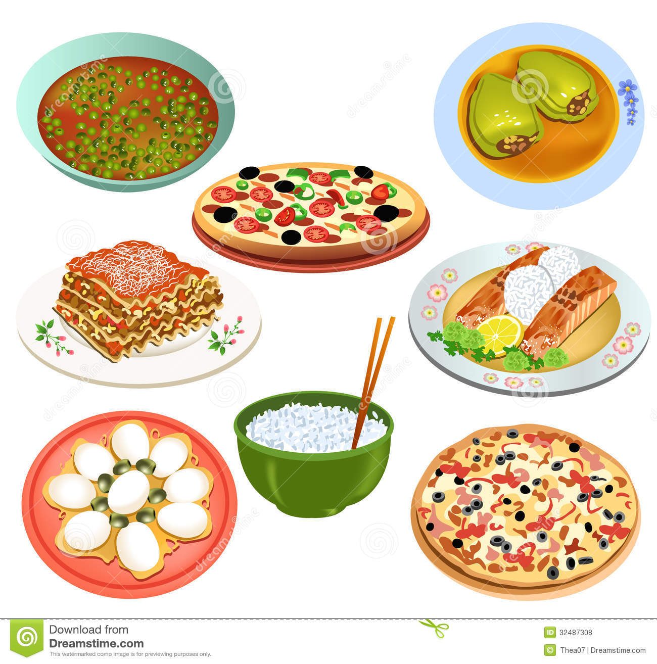 Delicious Food Stock Vector Illustration Of Dish Stuffed