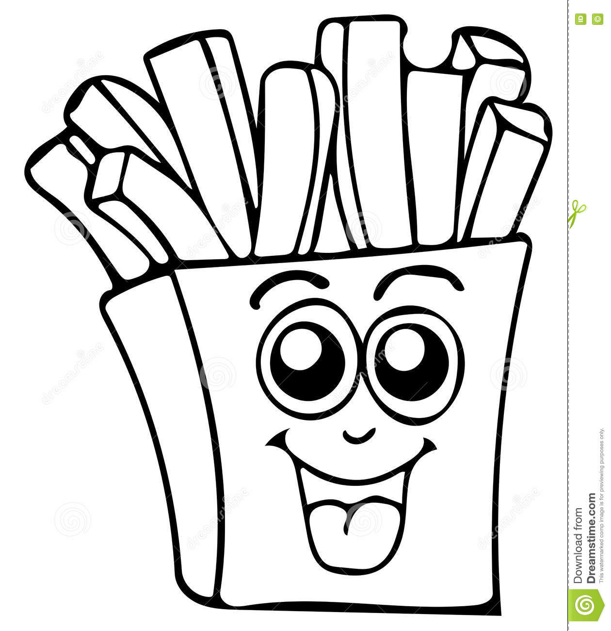 french fries coloring pages - photo#35
