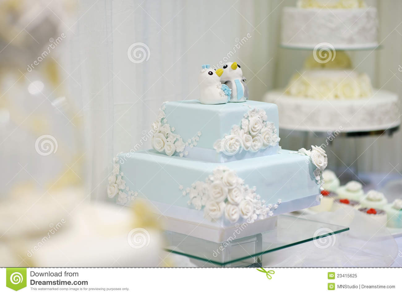 Delicious Funny Wedding Cake Stock Image - Image of fancy, floral ...