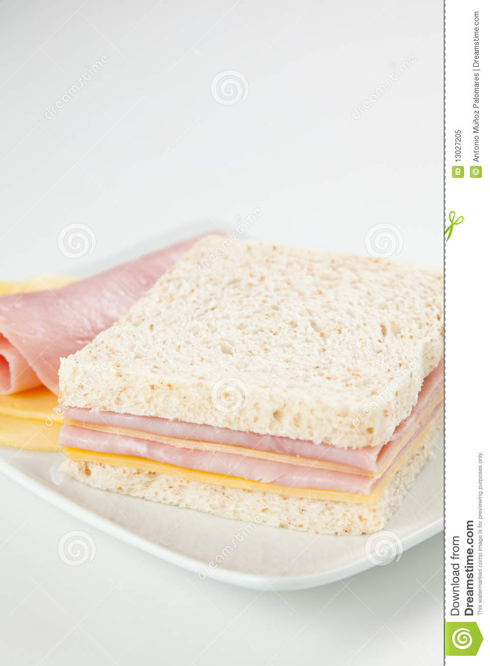 Delicious Ham And Cheese Sandwich Royalty Free Stock Photo ...