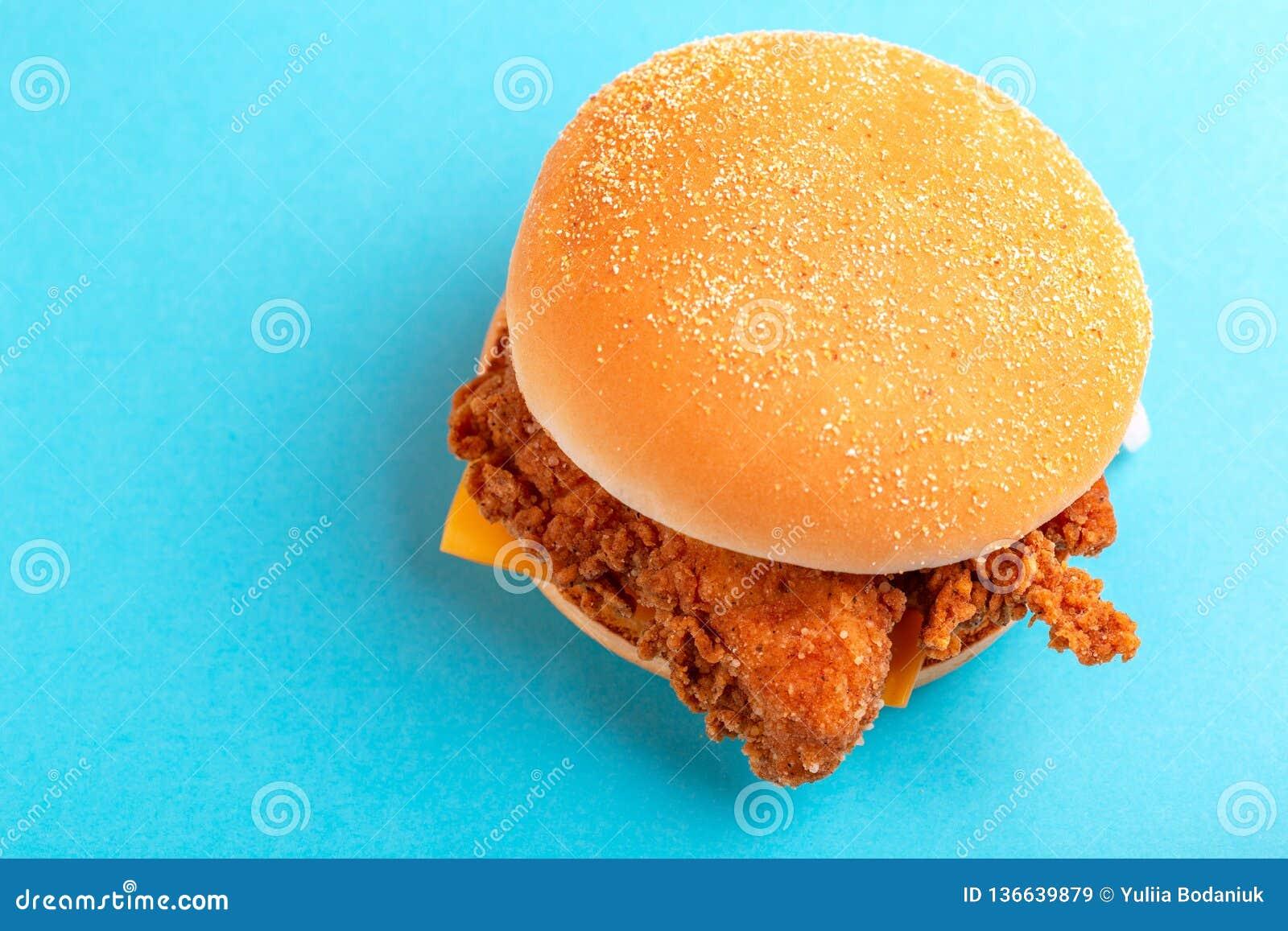 Delicious Hamburger Or Burger With Ketchup And Mustard Stock