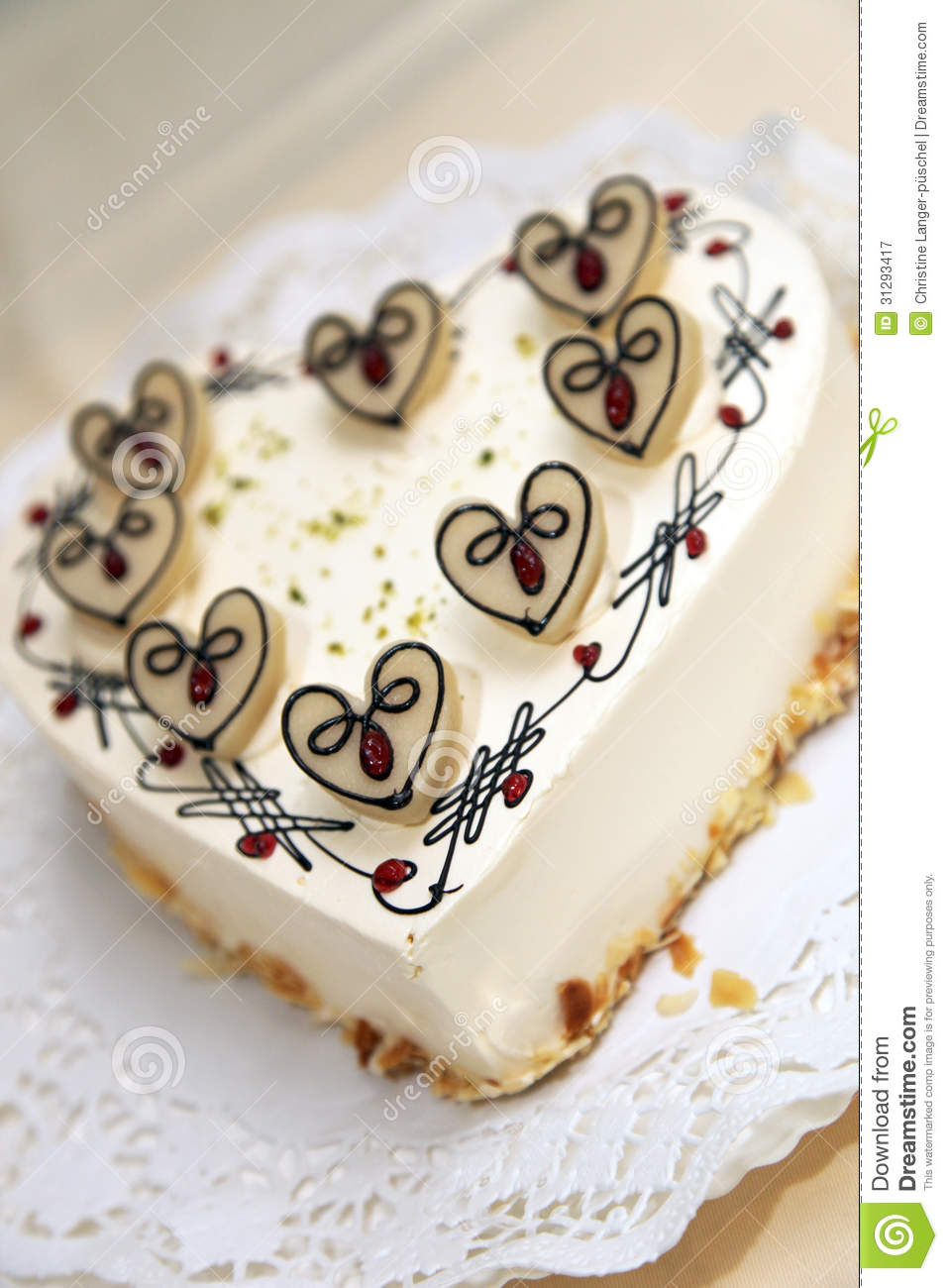 Cake Design Heart Shape : Delicious Heart Shaped Cake Royalty Free Stock Photography ...