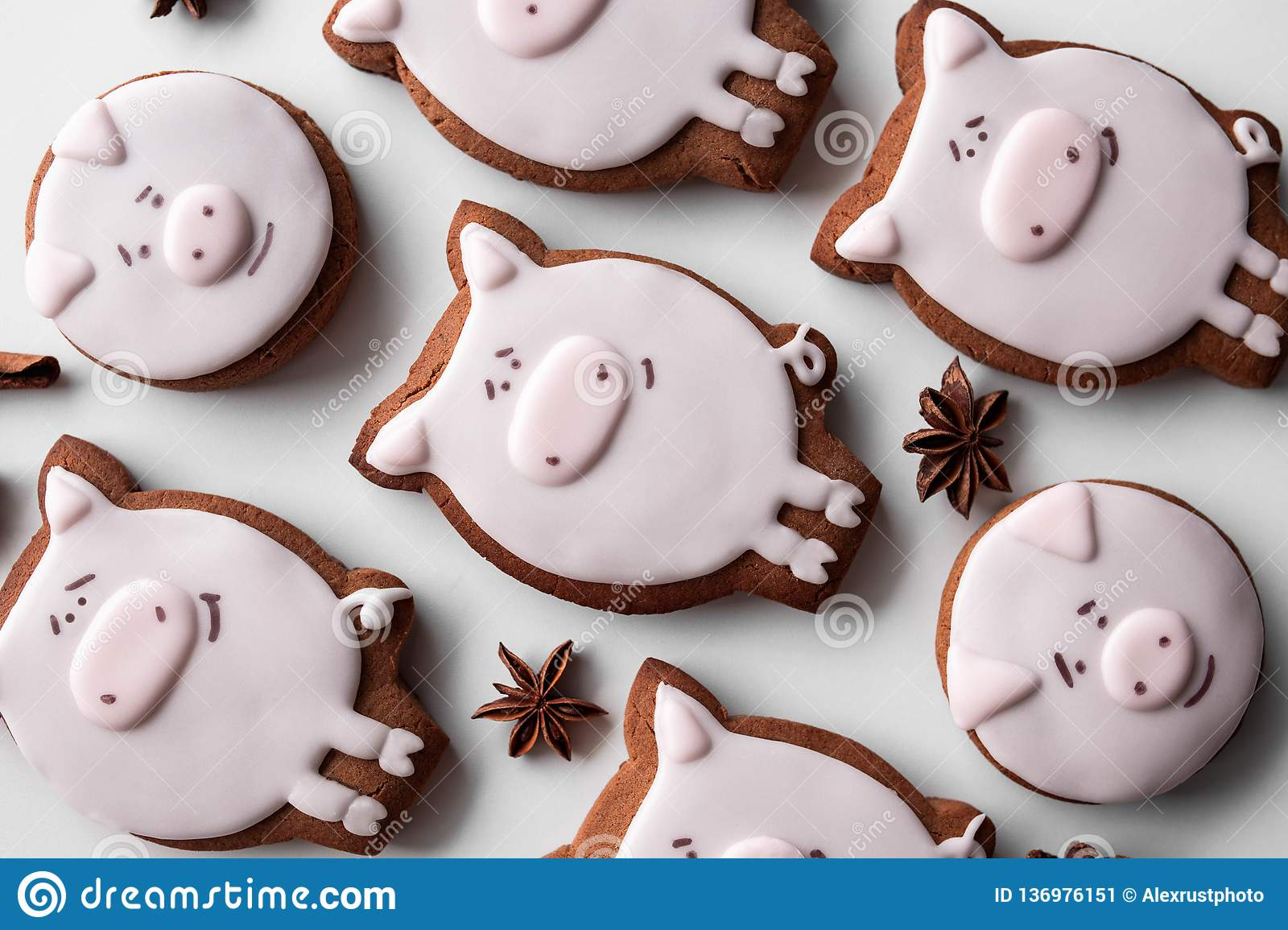 Delicious gingerbread cookies 2019 new year