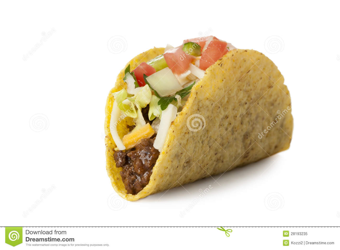 Delicious Mexican Taco Royalty Free Stock Photo - Image ...