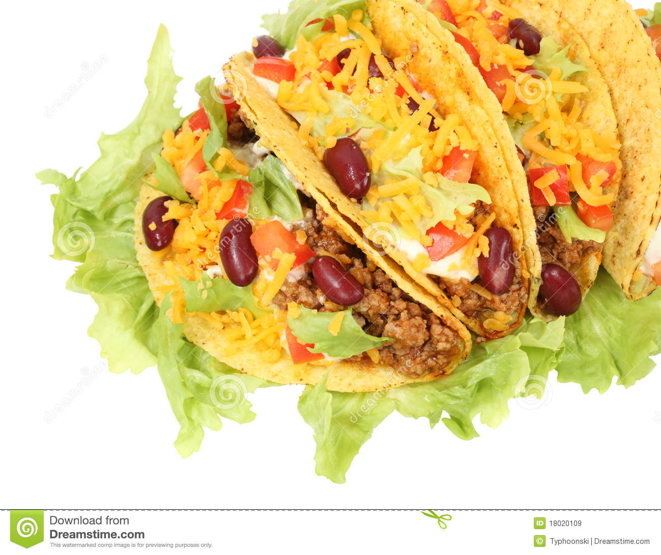 Delicious Mexican tacos stock image. Image of restaurant ...