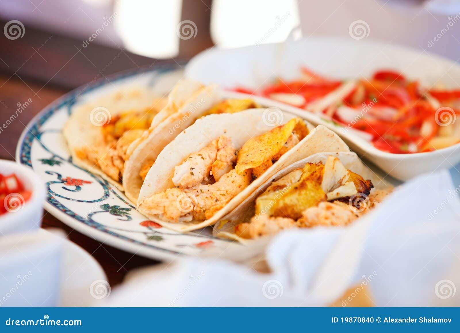 Delicious Mexican Tacos Stock Photo - Image: 19870840