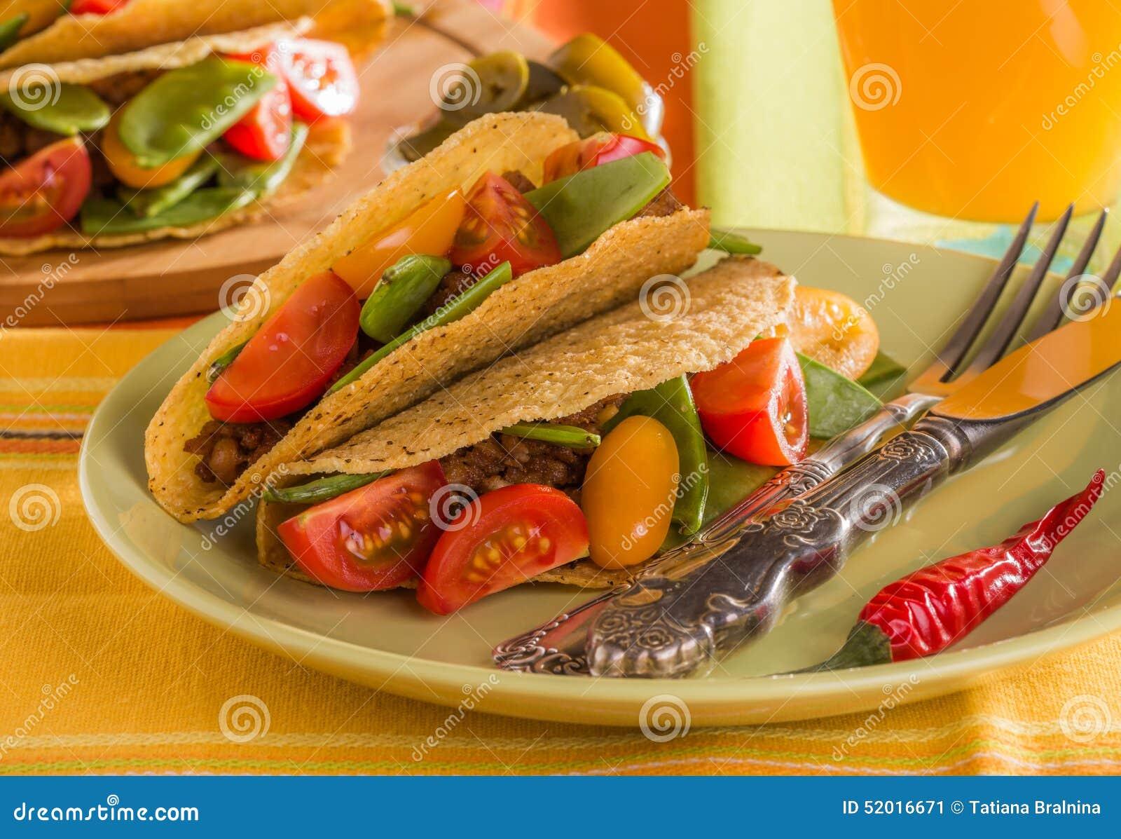 Delicious Mexican Tacos Stock Photo - Image: 52016671
