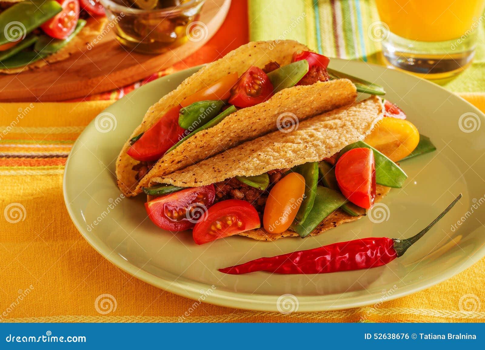 Delicious Mexican Tacos Stock Photo - Image: 52638676
