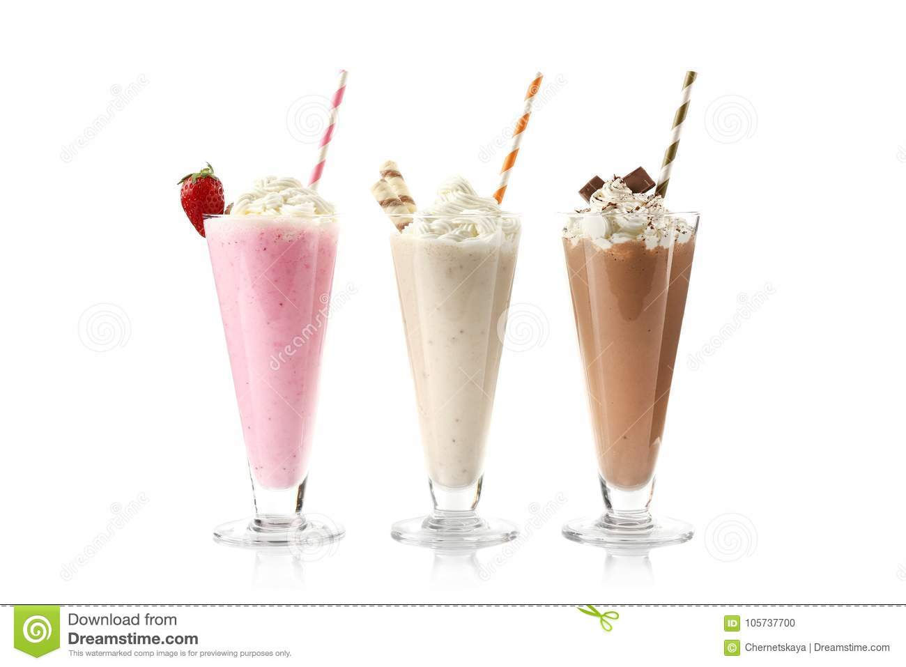 Delicious milkshakes isolated
