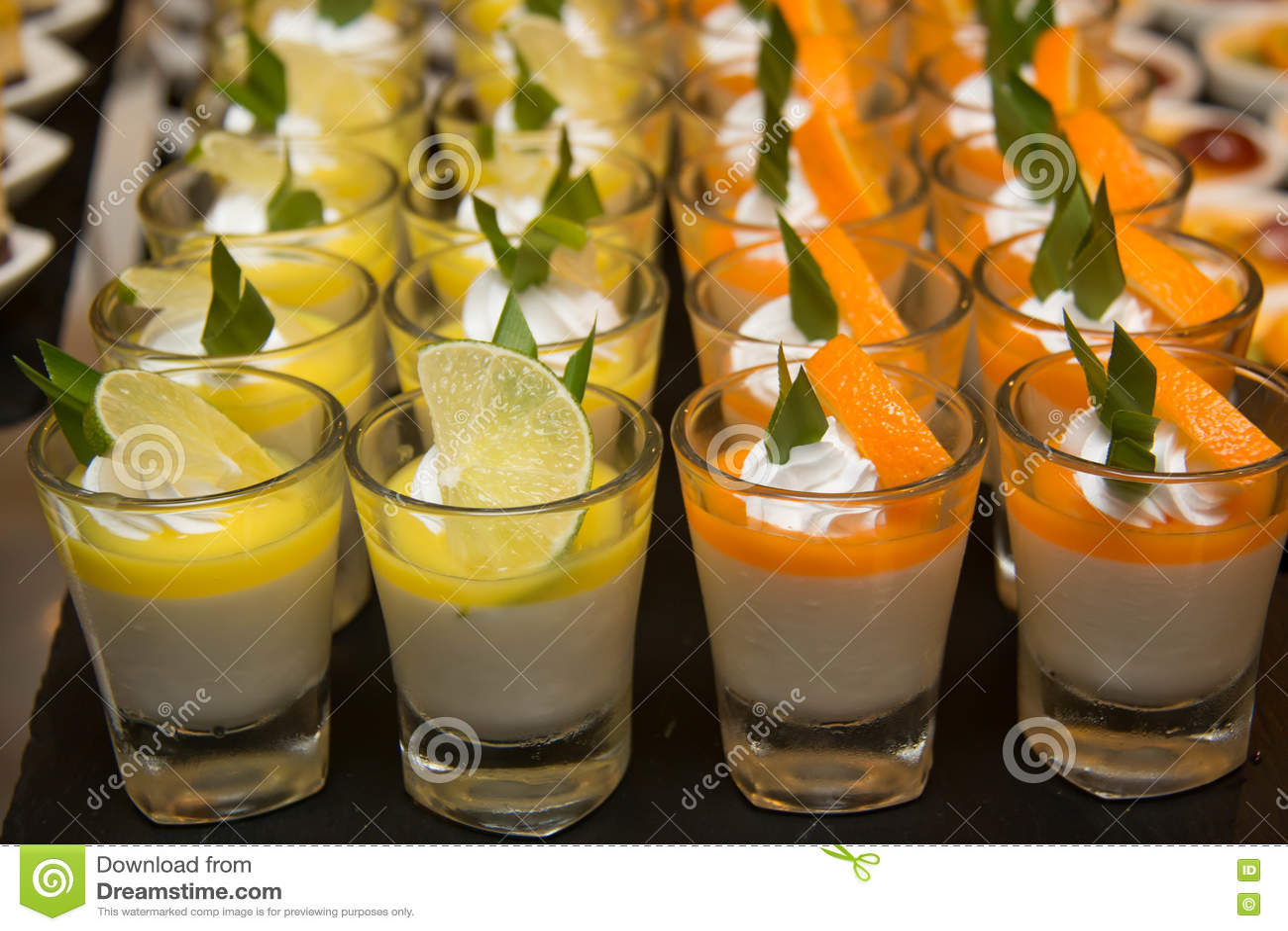 Delicious Mini Desserts Decoration In Glass Stock Image Image Of