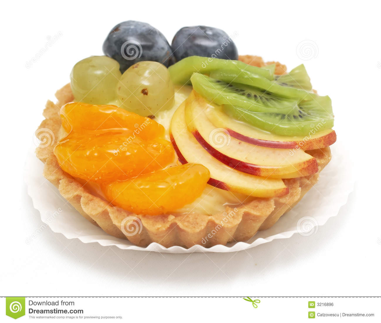 Delicious mixed fruit tart
