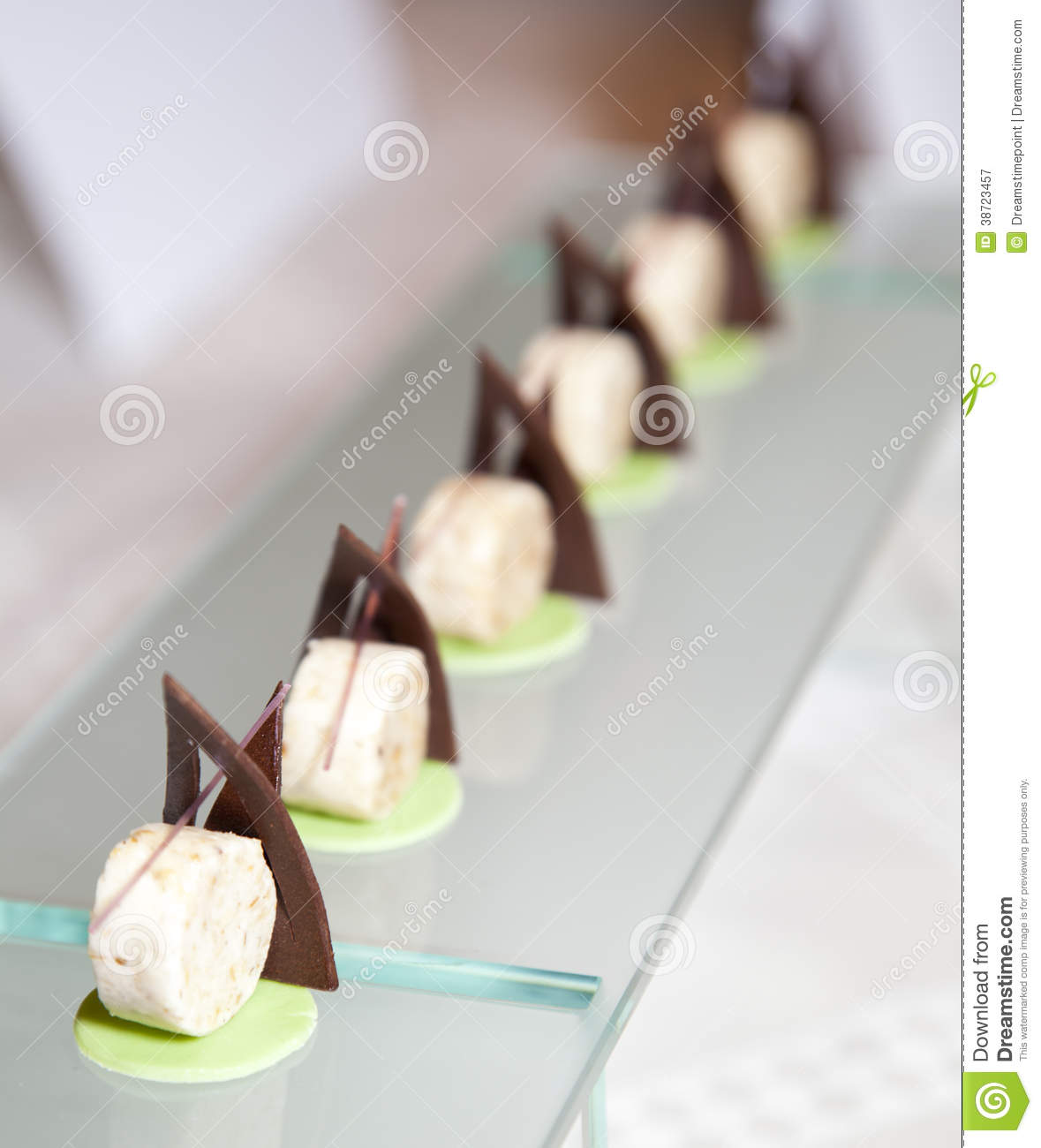 Delicious Modern Decorated Sweet Dessert Royalty Free Stock Photography