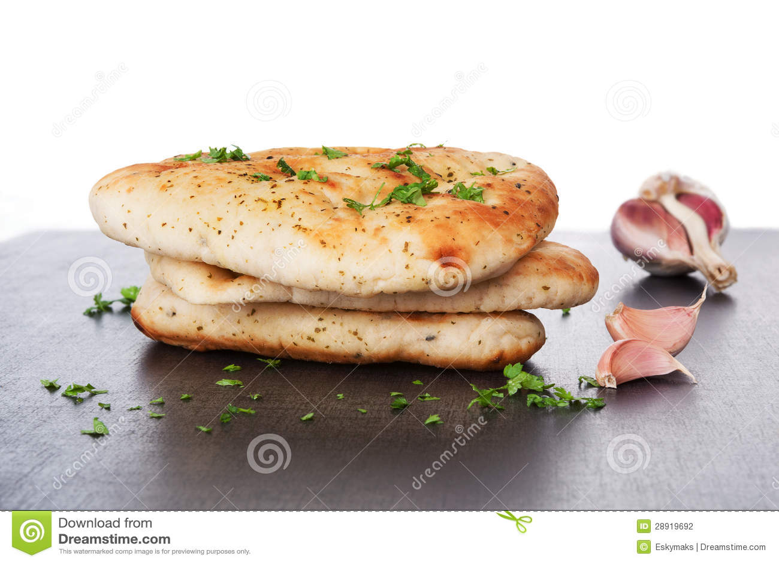 Delicious naan bread background.