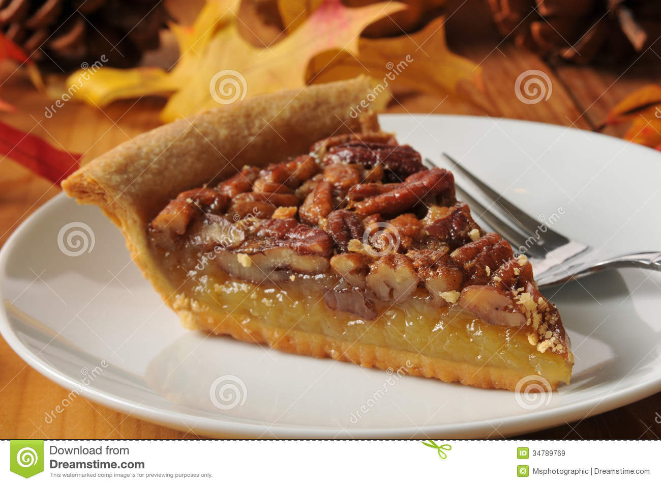 Delicious Pecan Pie Stock Image Image Of Mince Colorful