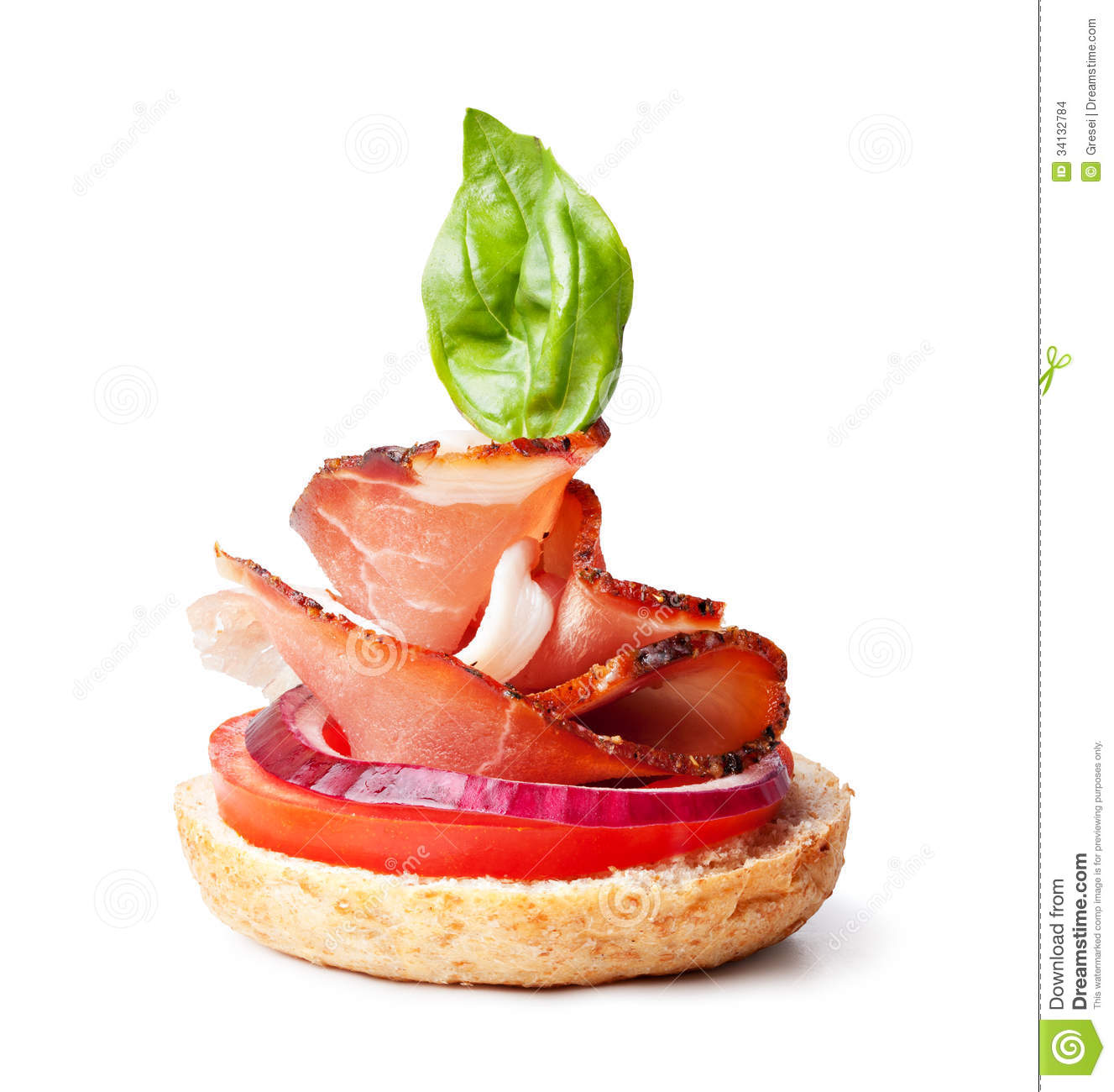 Delicious prosciutto canape stock photo image 34132784 for Prosciutto and melon canape