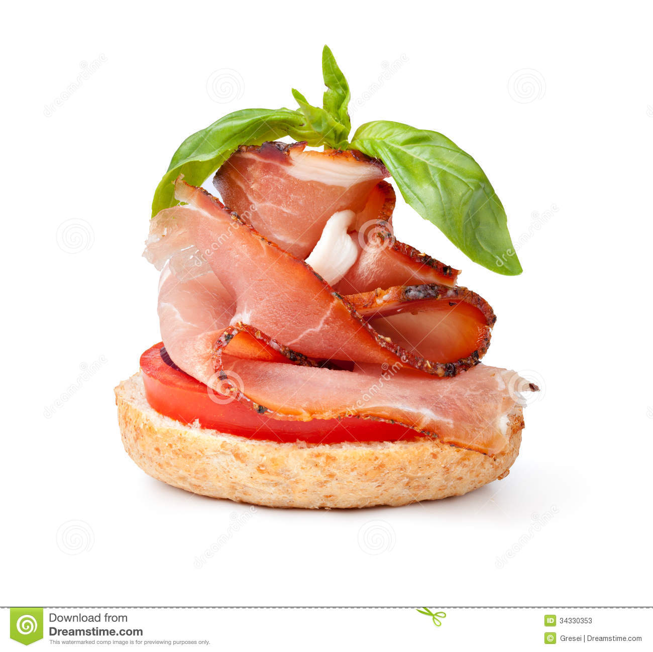 delicious prosciutto canape stock photos image 34330353