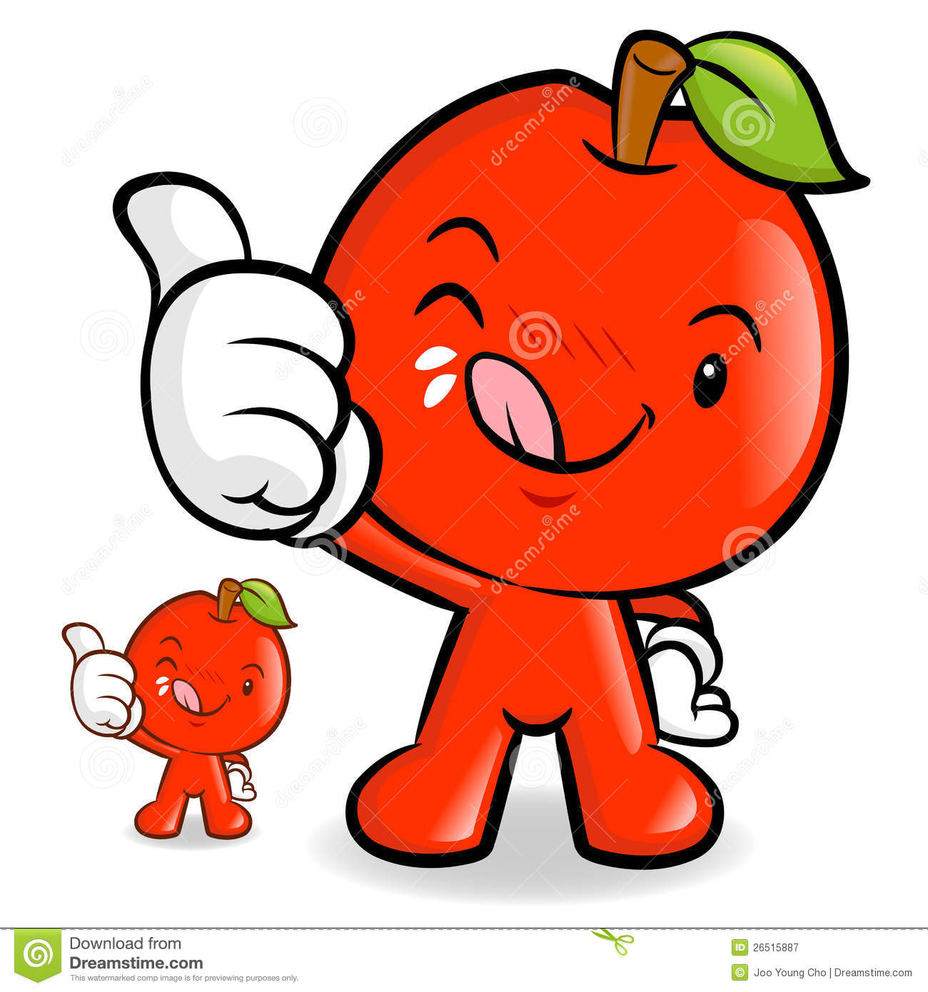 Yuck Character Design : Delicious red apple character royalty free stock