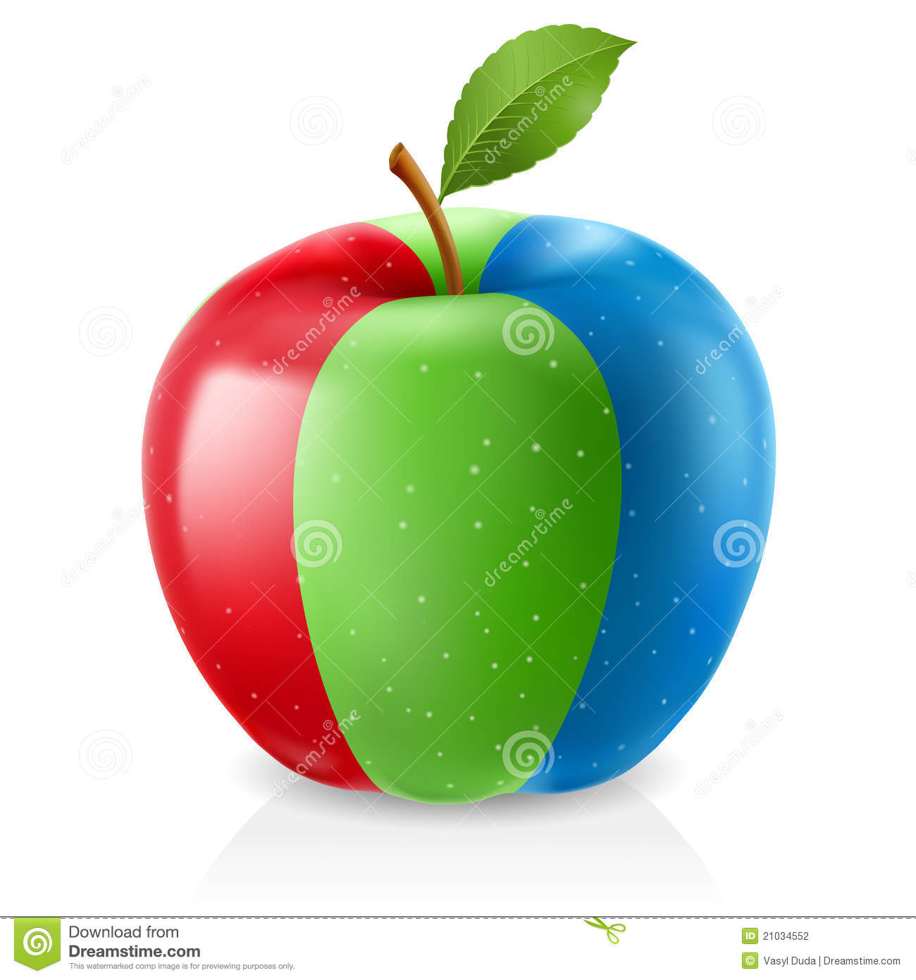 delicious green apple illustration - photo #16