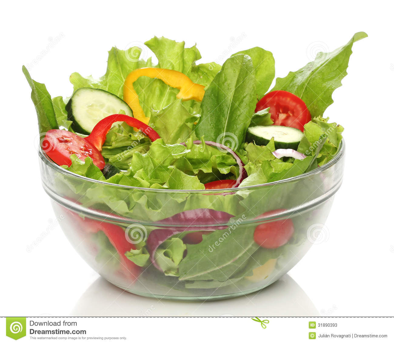 Delicious Salad On A Bowl Isolated Stock Photos - Image: 31890393