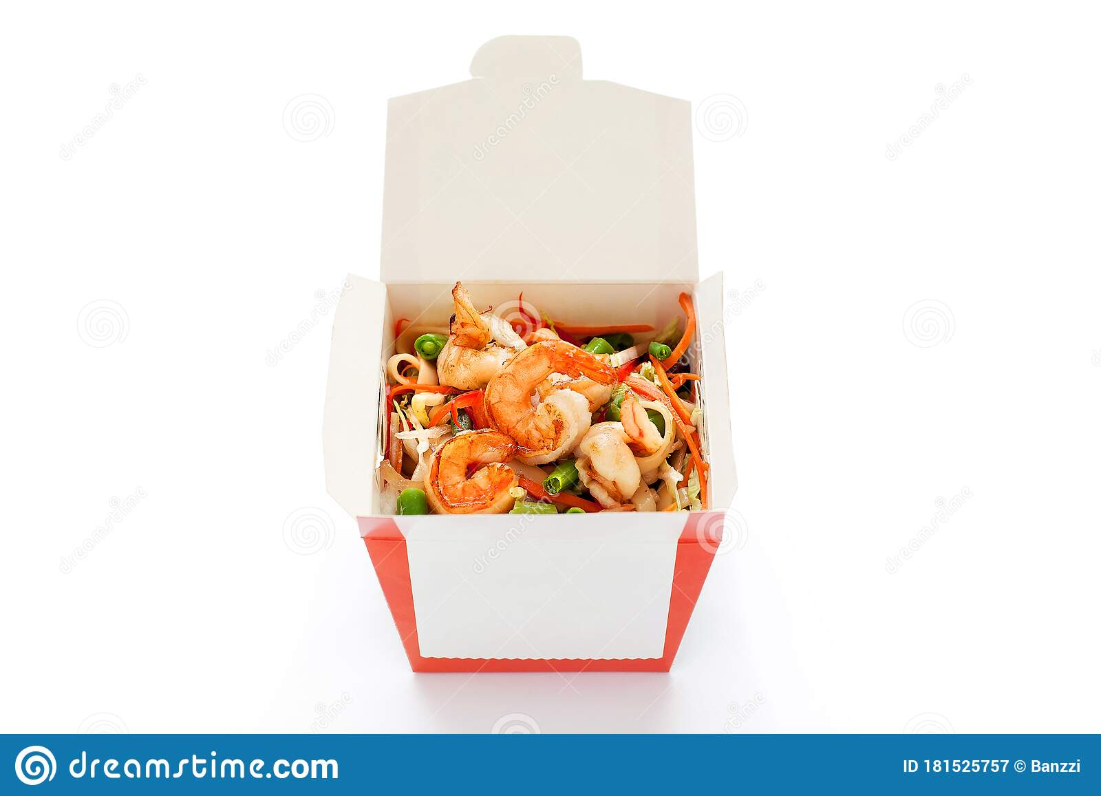 Delicious Seafood Wok Noodles Box With ...