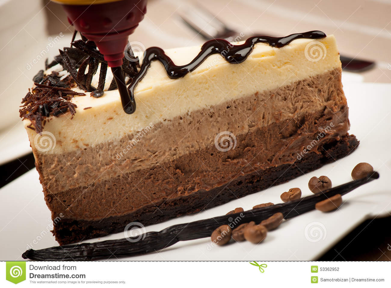 Vanilla And Chocolate Cake Images : Delicious Slice Of Chocolate Cake With Syrup And Vanilla ...