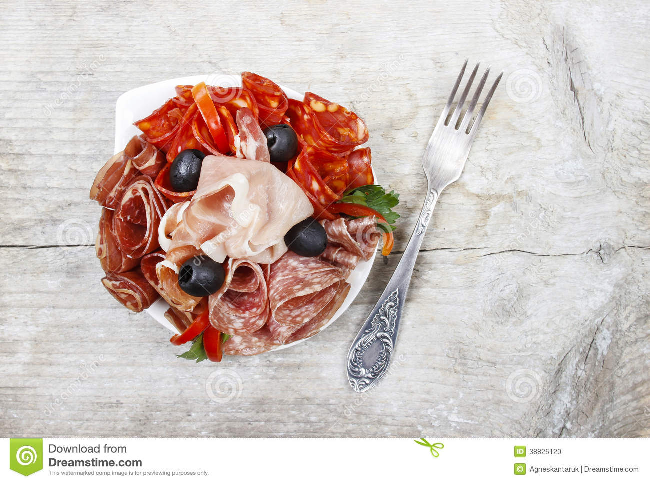Delicious sliced ham. Party platter