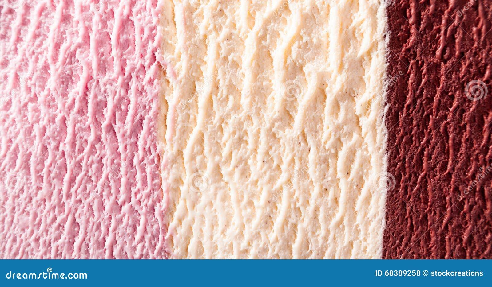 Delicious Strawberry, Fudge And Vanilla Ice Cream Stock Photo - Image ...