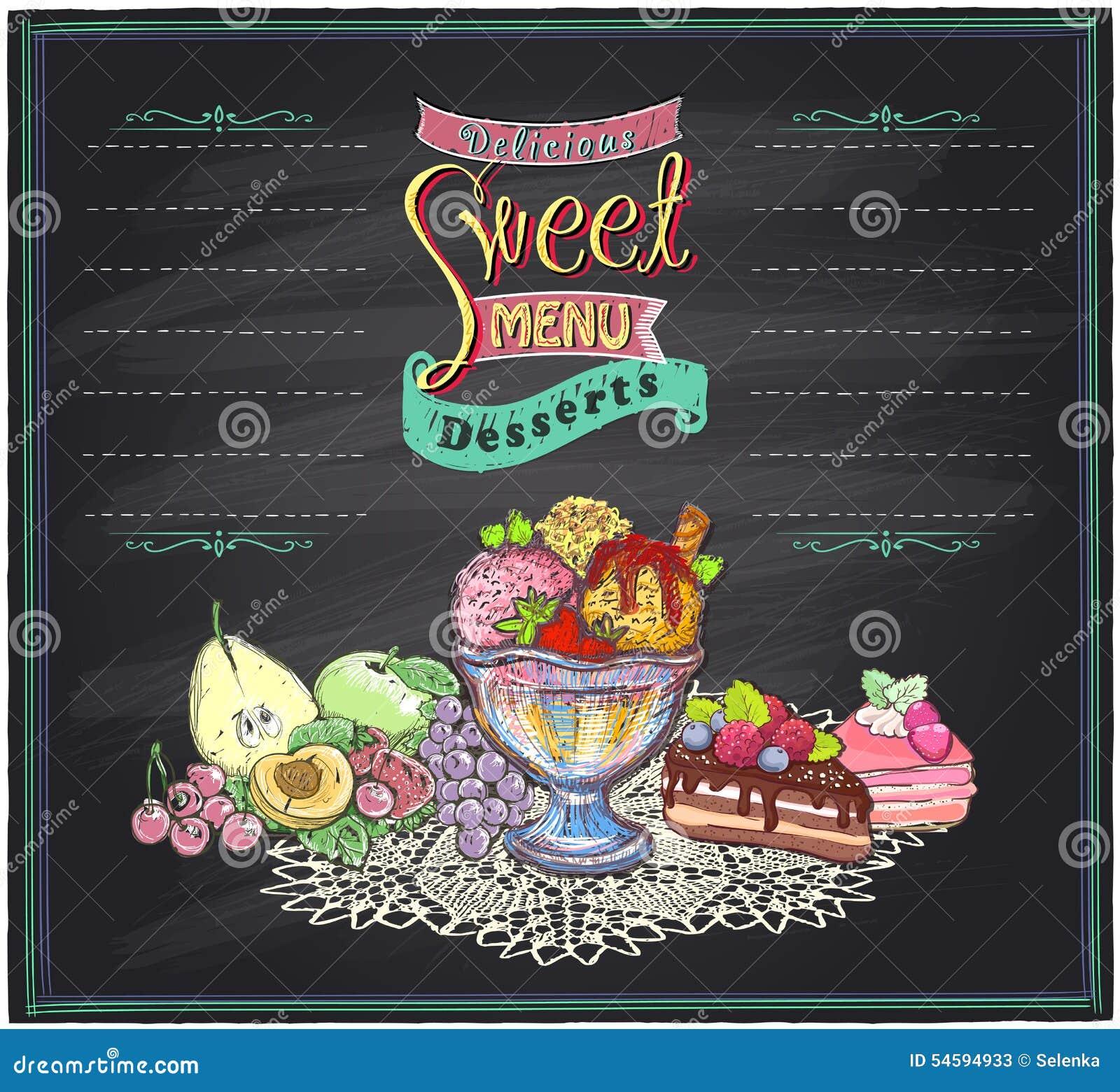 Sweet Menu Royalty-Free Stock Image
