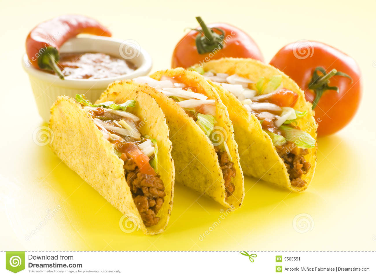 Delicious Taco, Mexican Food Stock Image - Image: 9503551