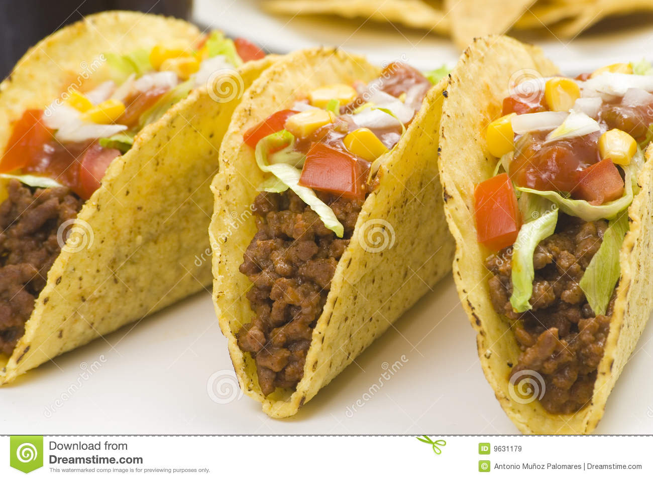Delicious Taco, Mexican Food Stock Image - Image of ...