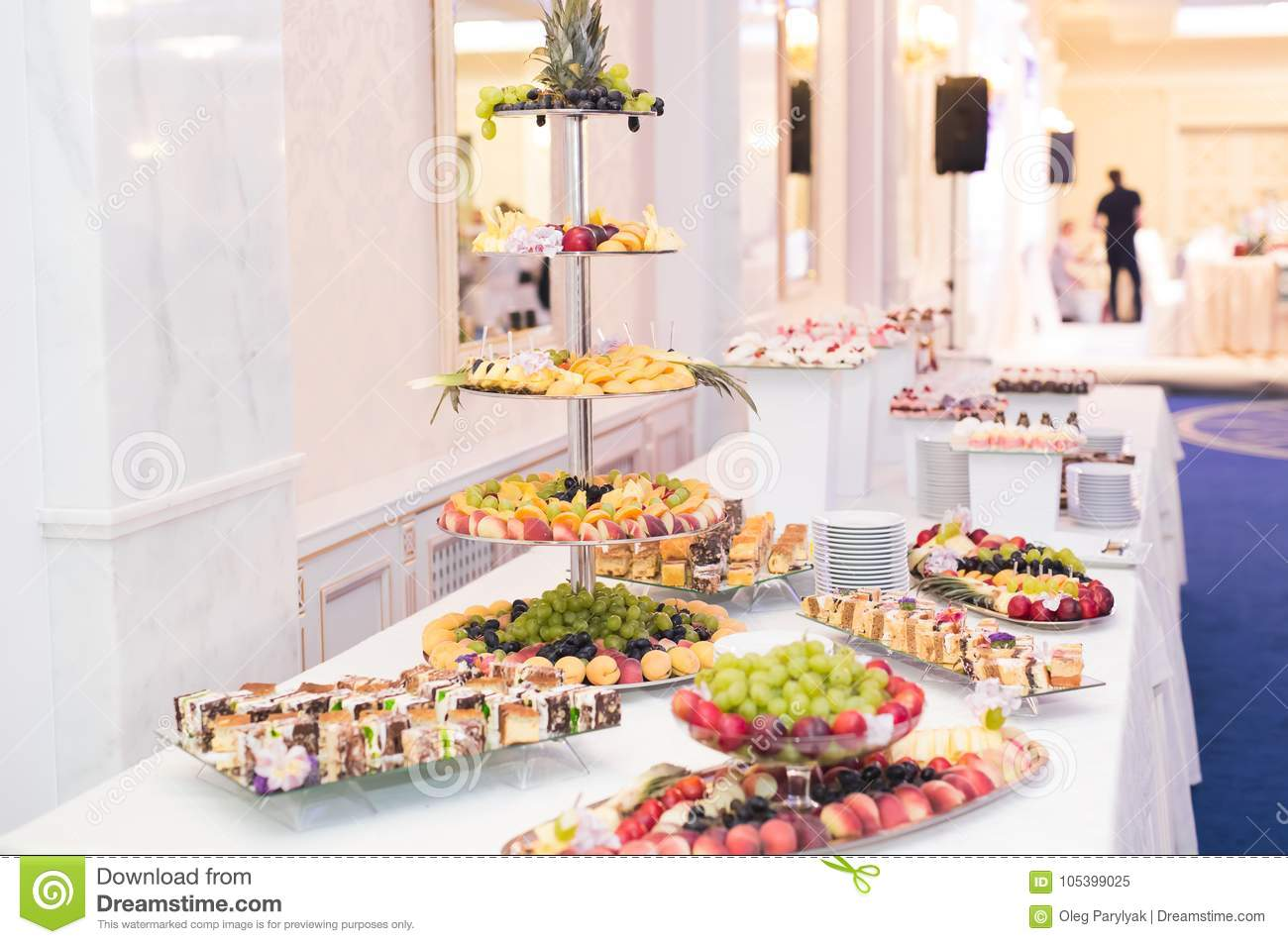 Delicious Wedding Reception Candy Bar Dessert Table Stock Image