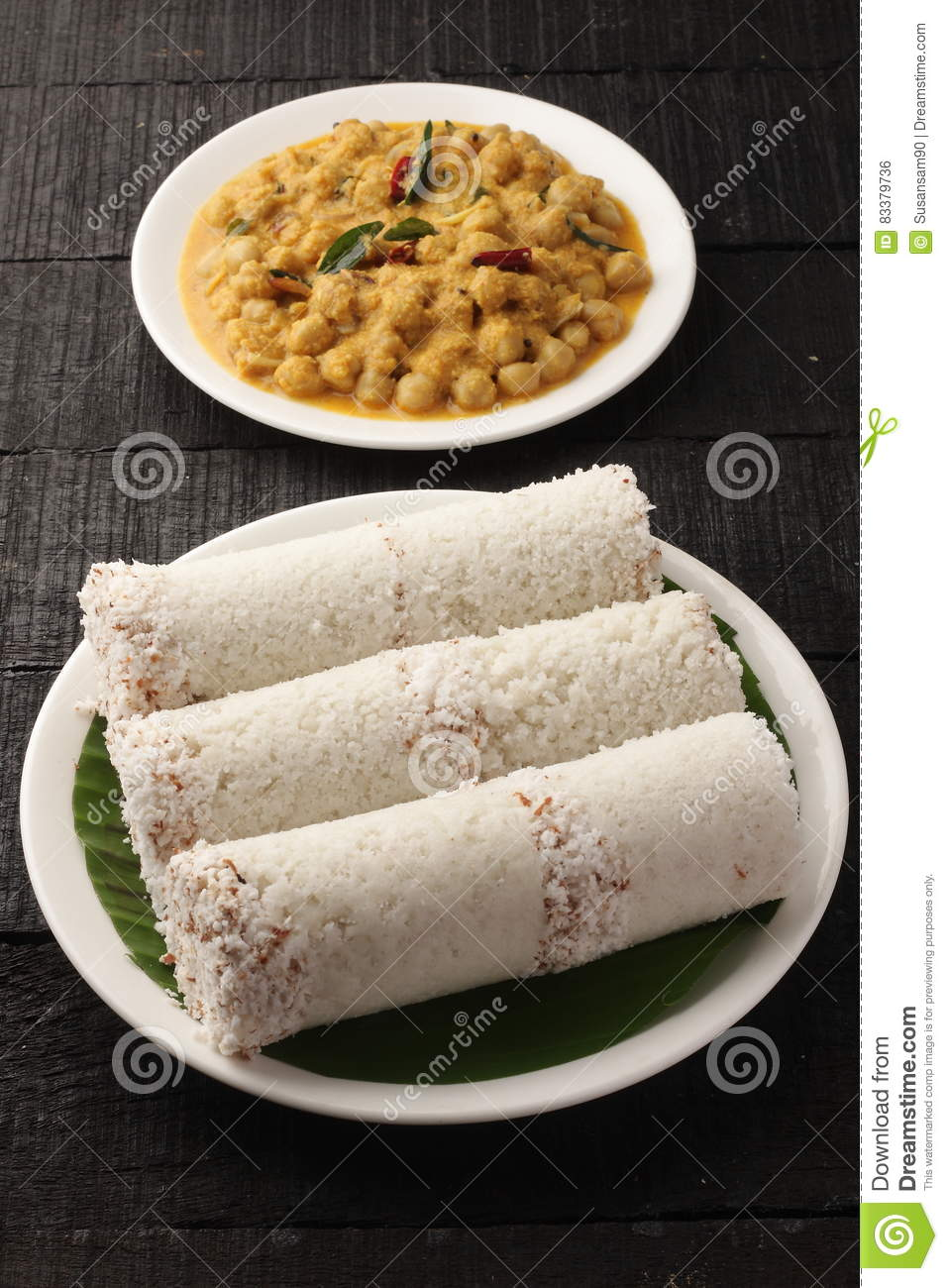 Delicious white rice puttu royalty free stock image for Cuisine kerala