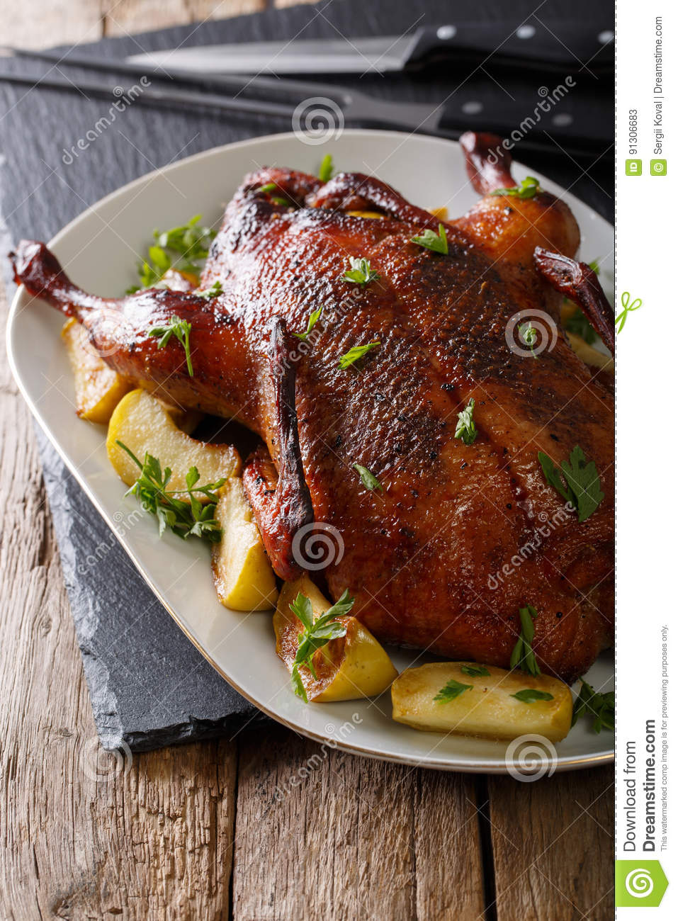 How to cook a duck with apples 6