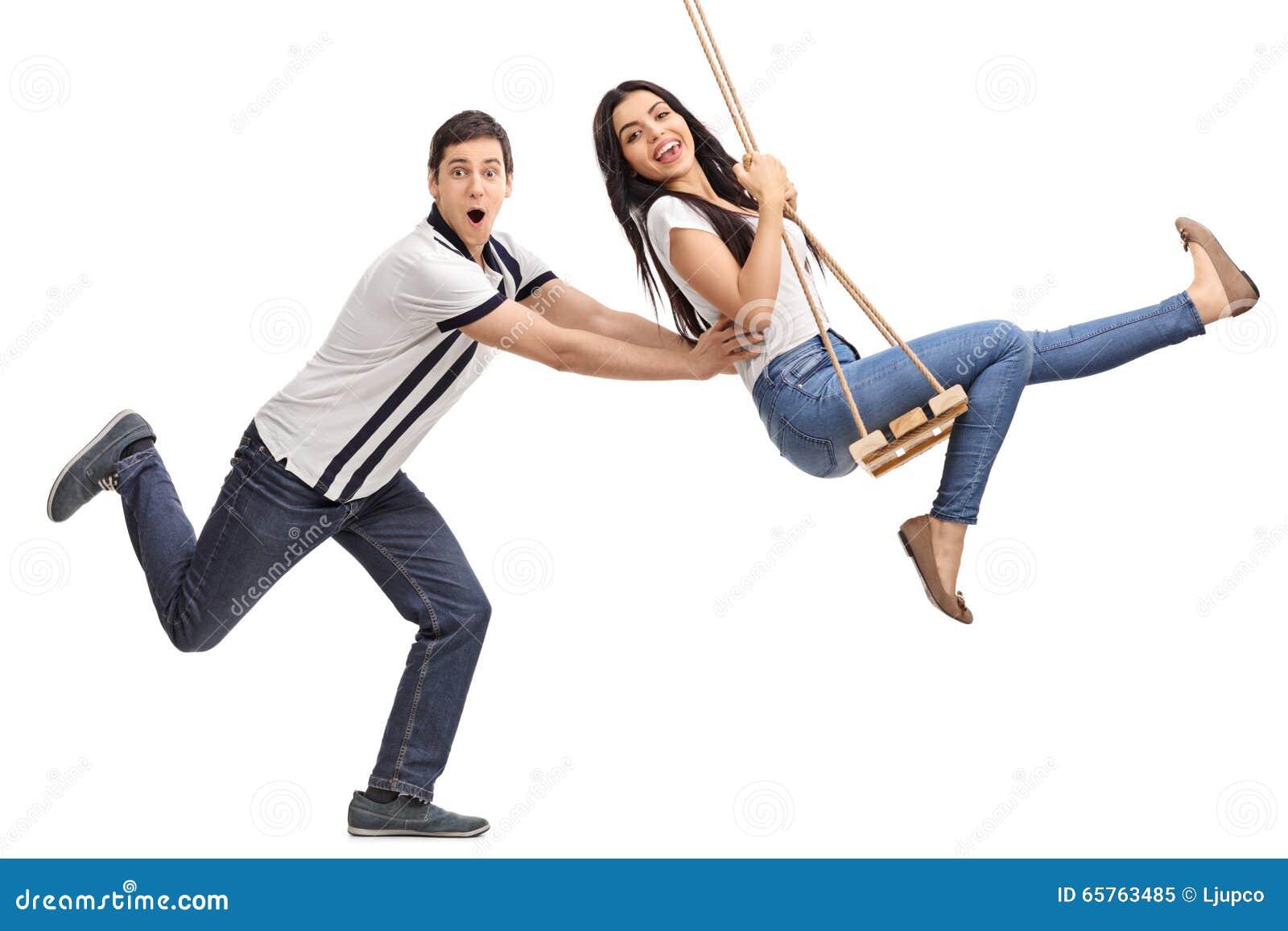 Adult swinging personal something
