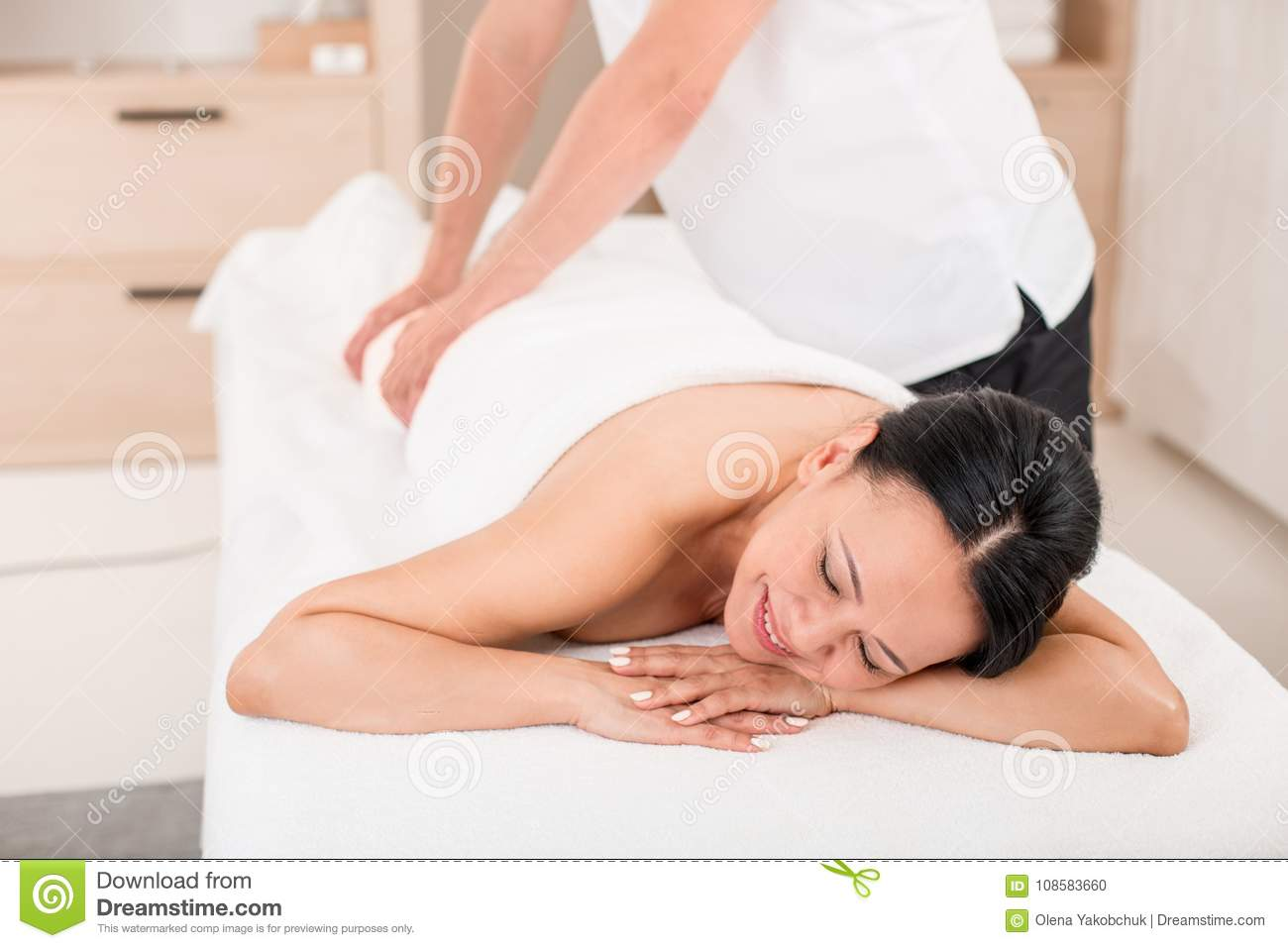Mature women being massaged
