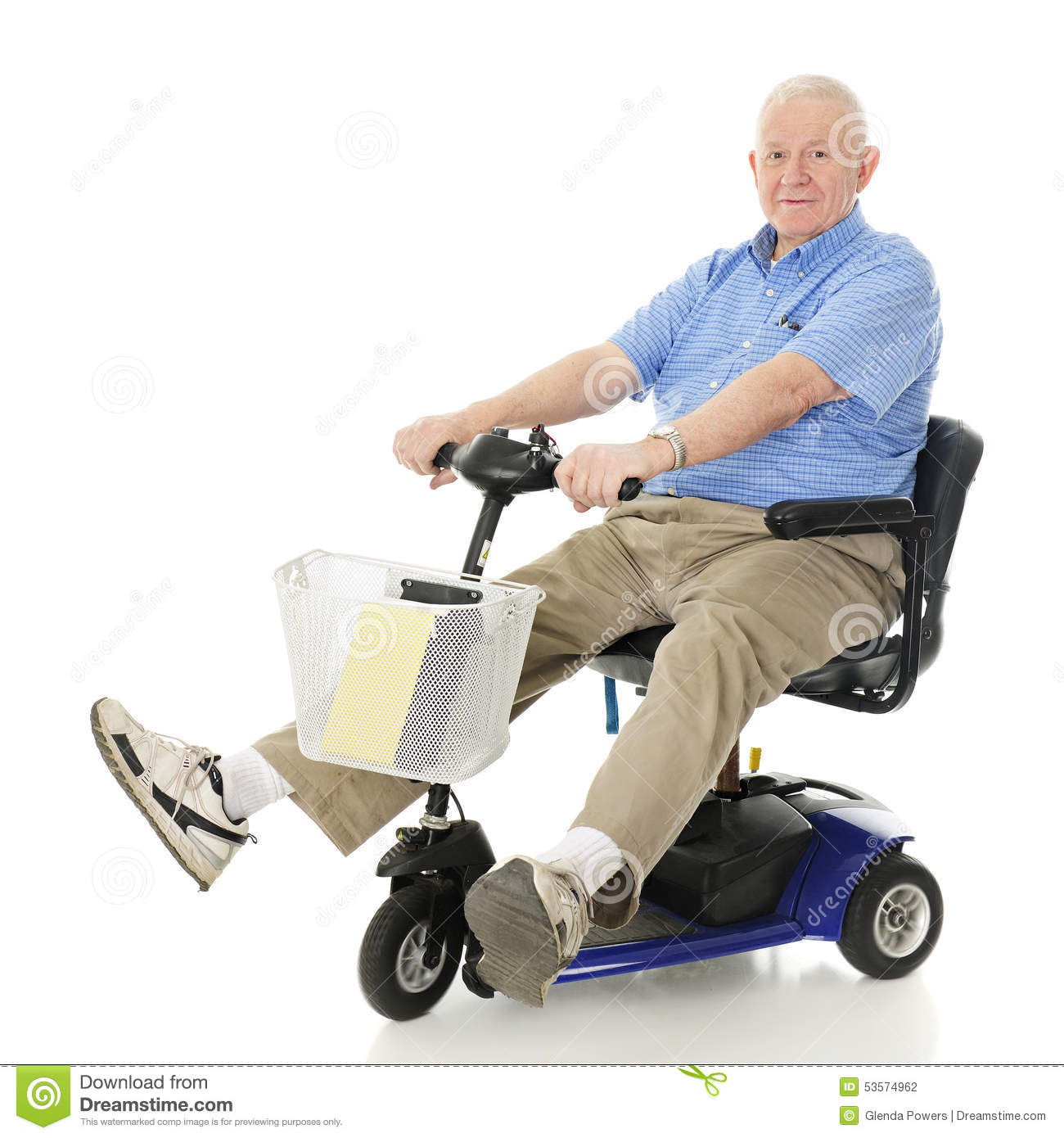Delighted senior scooter driver stock photo image 53574962 for Motorized scooters for elderly