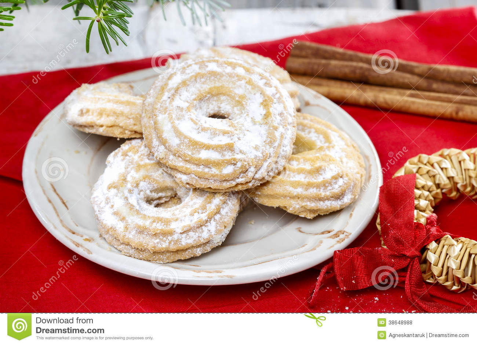 Delightful Traditional Christmas Cookies Stock Photo Image Of
