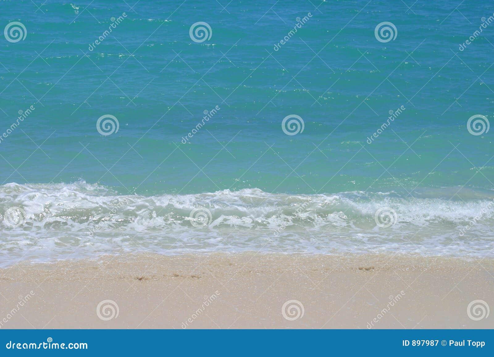 Delikatne Hawaii fale plażowych