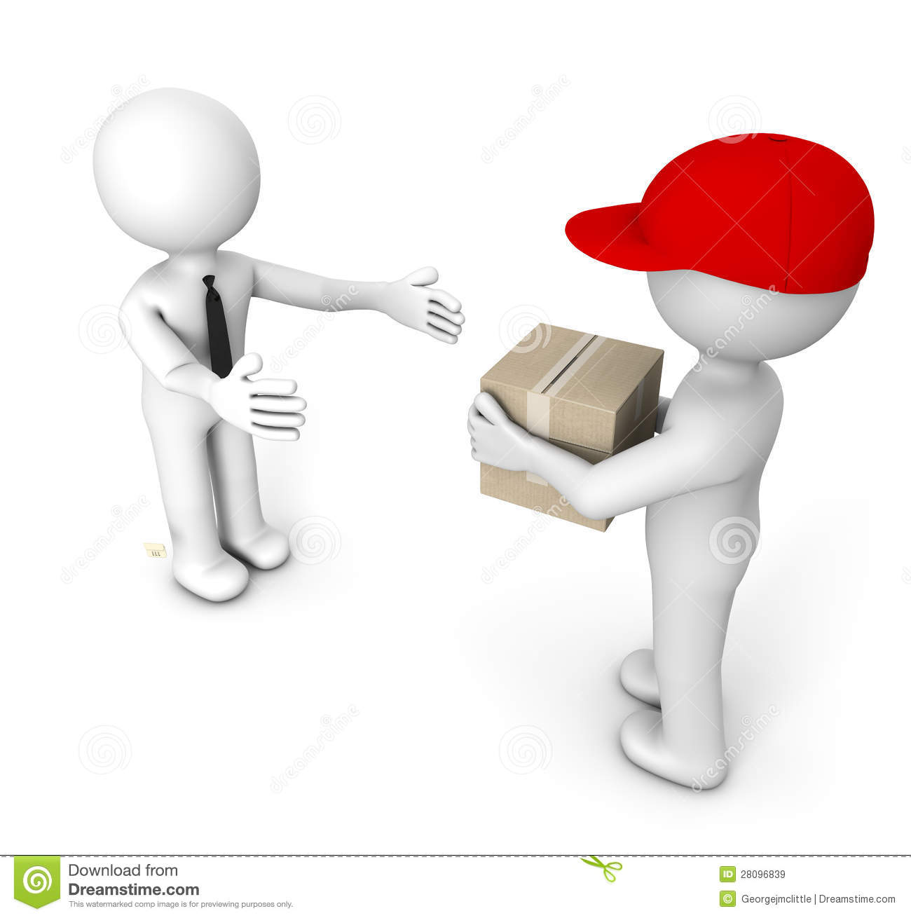 Deliver Stock Illustration Illustration Of People