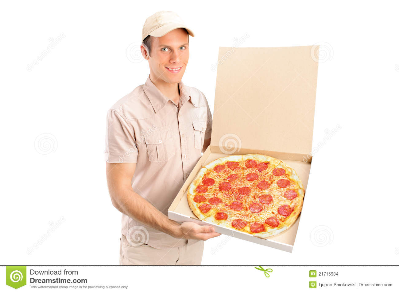 delivery pizza boy