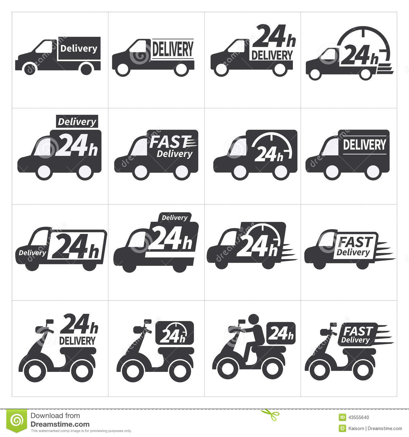 Delivery car icon stock vector. Illustration of transport - 43555640