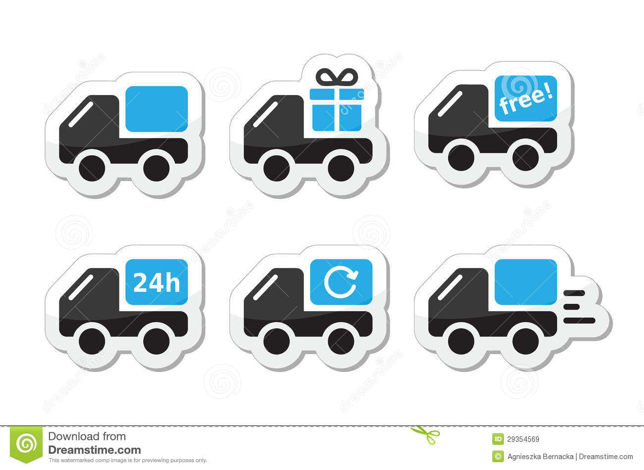 Car sticker design vector free - Delivery Car Shipping Icons Set Royalty Free Stock Images Image