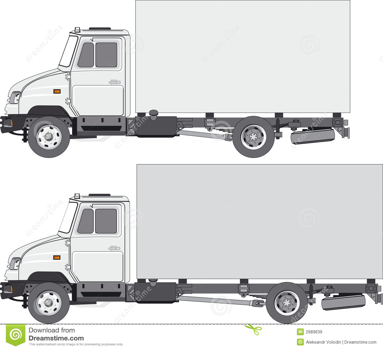 Delivery / cargo truck stock vector. Image of equipment ...