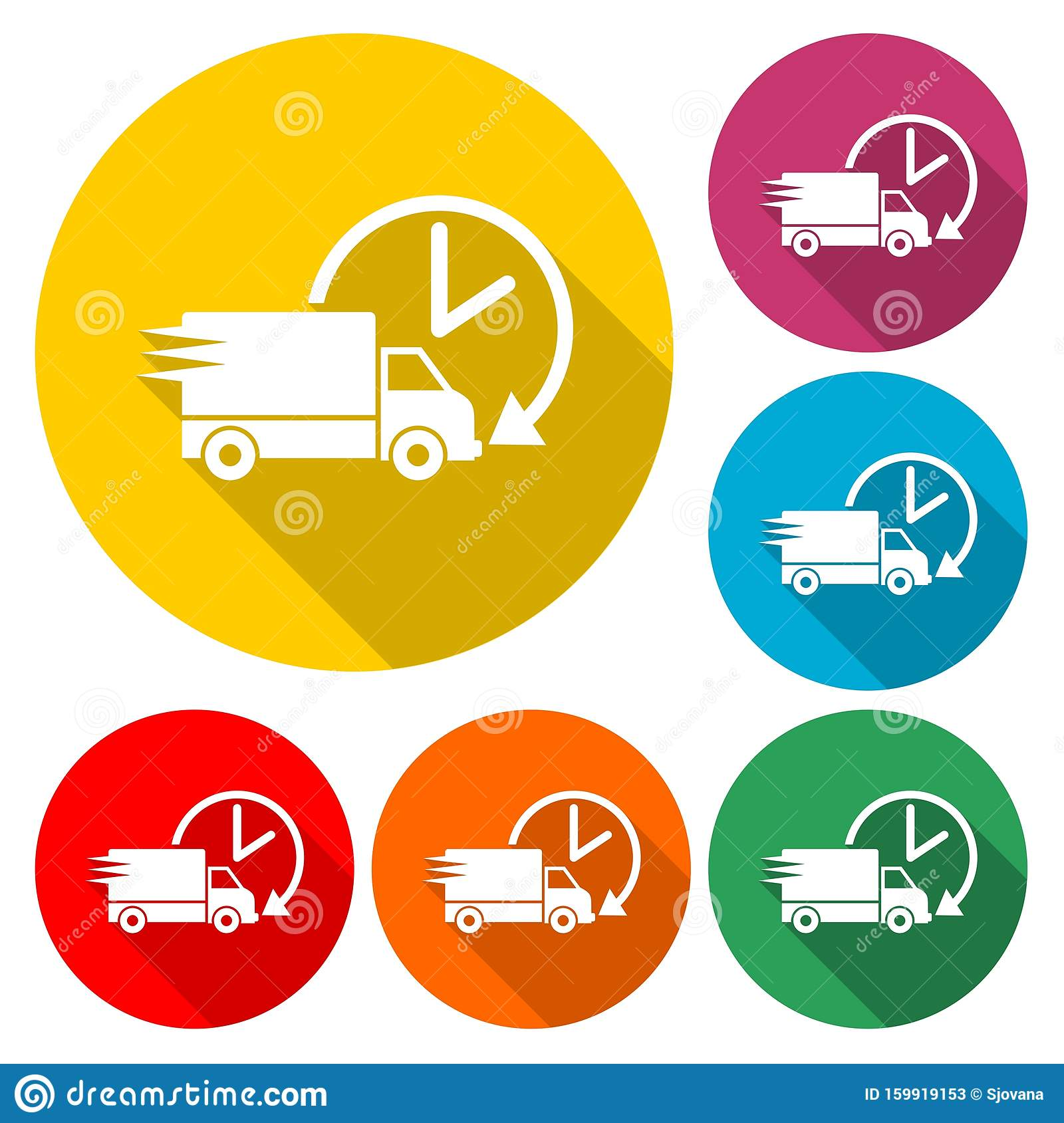 Delivery Or Cargo Truck Icon Image Vector Illustration ...