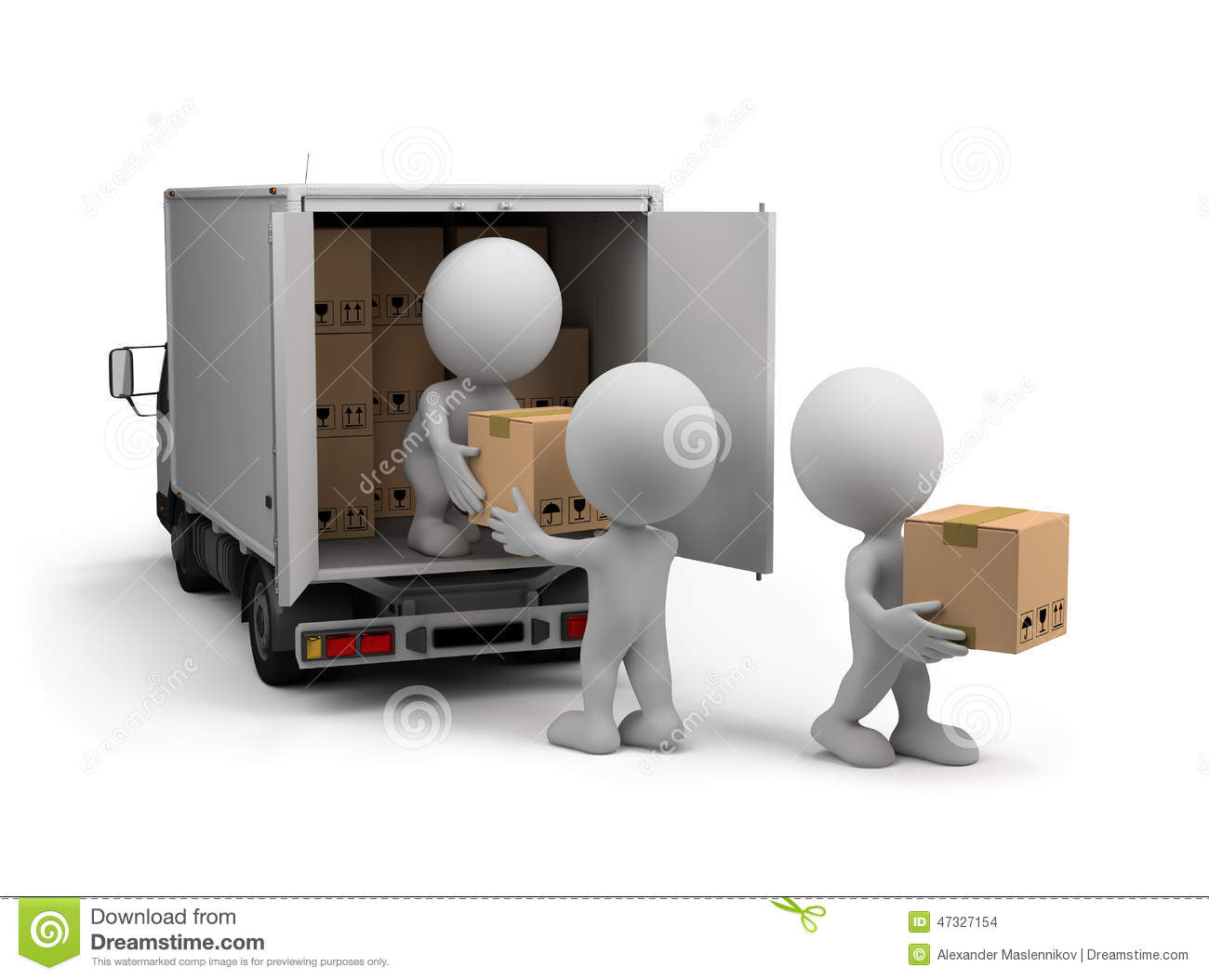 Delivery of cargo stock illustration. Illustration of deliver - 47327154